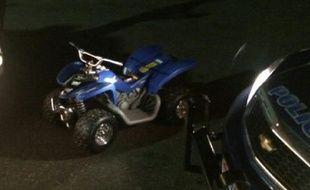 C'est au volant de ce jouet que l'enfant de six ans a été retrouvé sur une route fréquentée de l'Etat de New York.