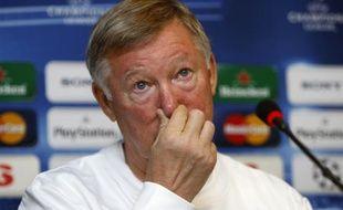 Le manager de Manchester United, Alex Ferguson, lors d'une conférence de presse à Istanbul, le 14 septembre 2009.