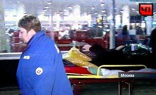 Capture écran d'une vidéo diffusée après l'attentat qui a frappé l'aéroport de Moscou le 24 janvier 2011.
