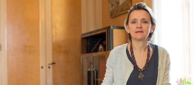 Florence Berthout, en 2014, dans son bureau