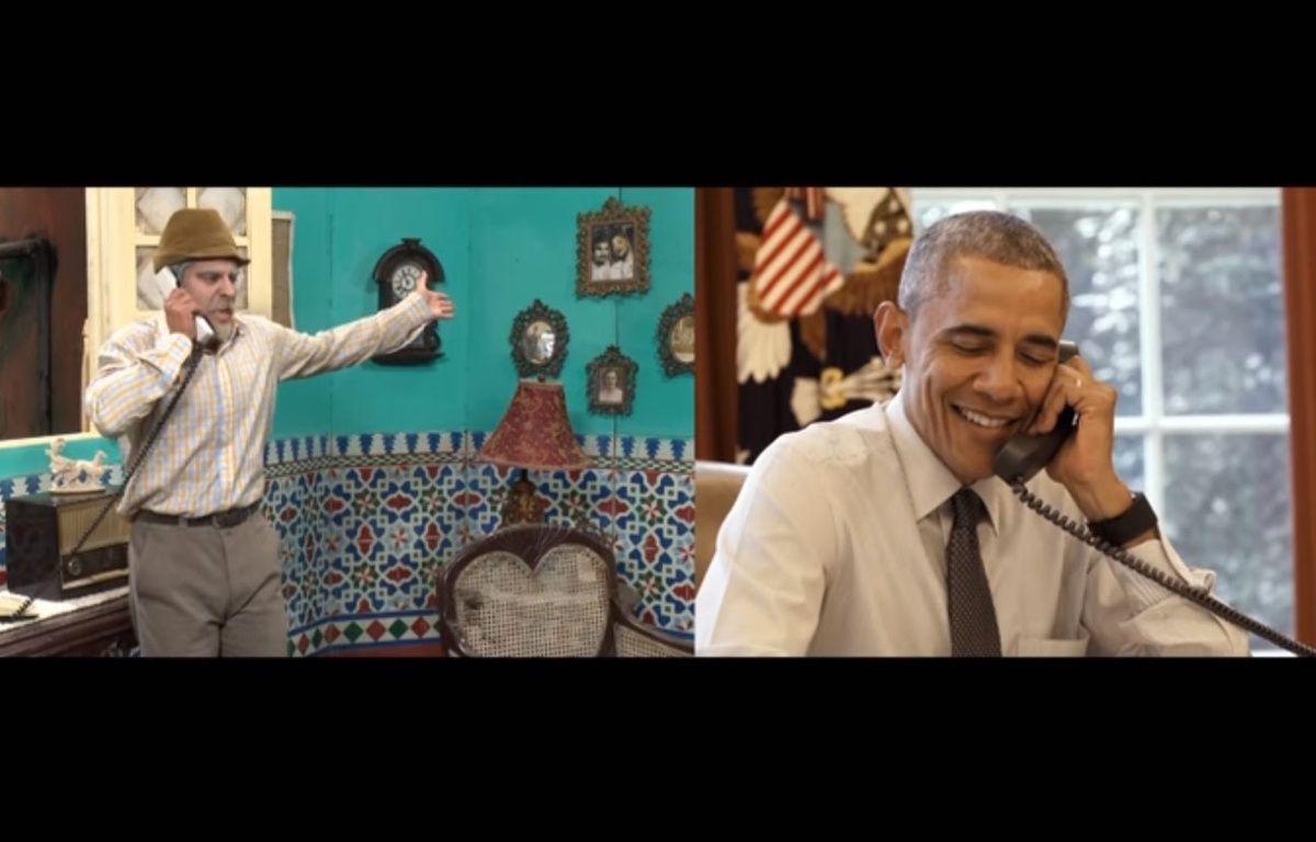Barack Obama a joué dans un sketch vidéo avec un humoriste cubain à la veille de sa visite officielle dans le pays. – Canal de cubadebatecu / YouTube