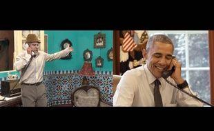 Barack Obama a joué dans un sketch vidéo avec un humoriste cubain à la veille de sa visite officielle dans le pays.