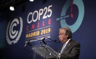 Antonio Guterres, déçu de la COP 25