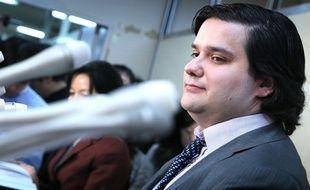 Le Français Mark Karpelès, ex-dirigeant de la plateforme d'échanges MtGox, le 28 février 2014 à Chiyoda au Japon.