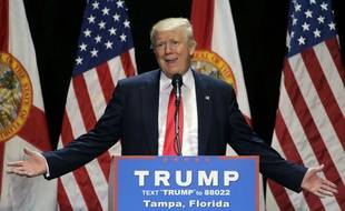 Le candidat républicain Donald Trump lors d'un meeting en Floride