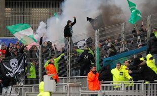 Les supporters stéphanois ont participé à leur dernier derby à Lyon, à l'époque de Gerland en avril 2013 (1-1).