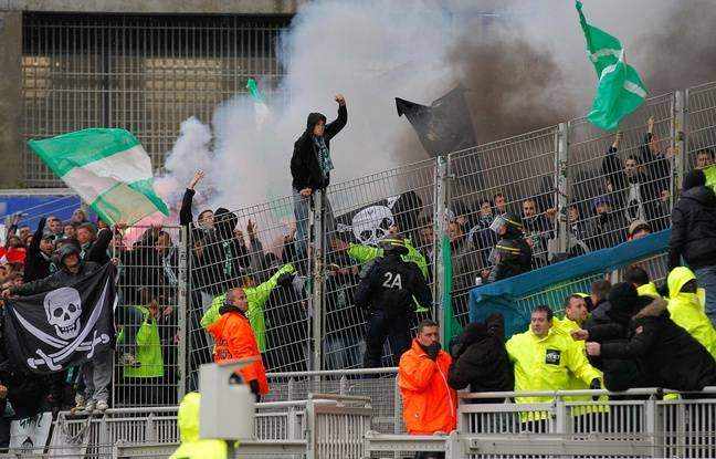 Les supporters stéphanois ont participé à leur dernier derby à Lyon en avril 2013.