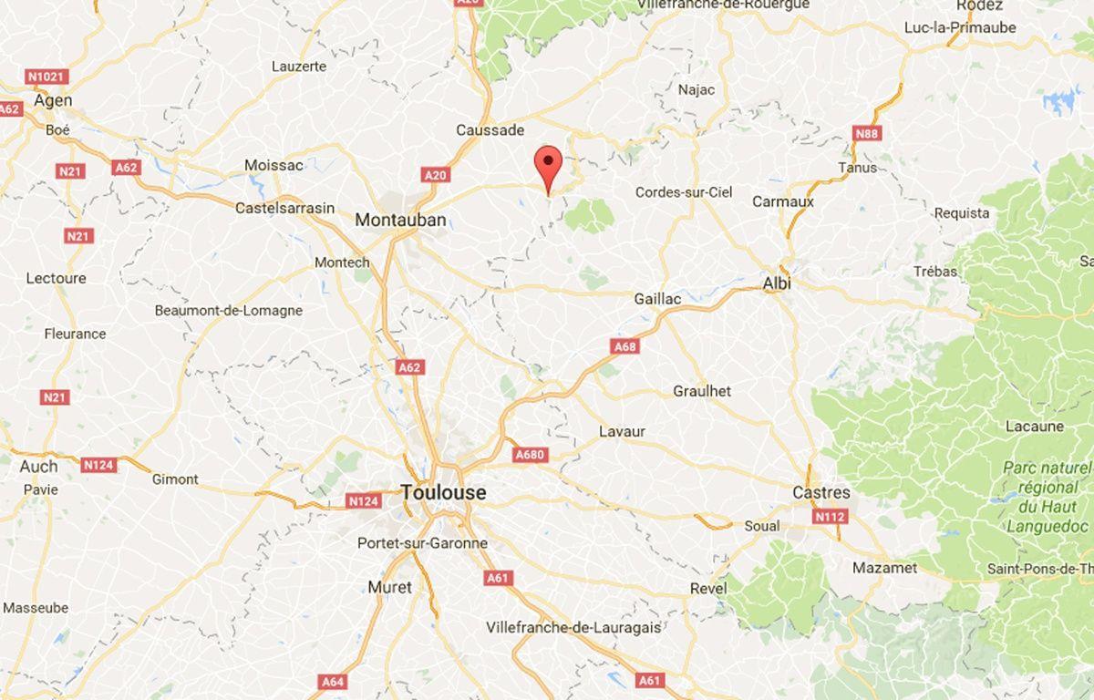 La commune de Bruniquel dans le Tarn-et-Garonne. – Google maps