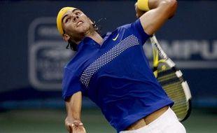 Le tennisman espagnol Rafael Nadal, lors de sa demi-finale à Cincinnati face à Novak Djokovic, le 22 août 2009.