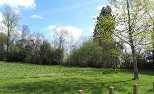 La parcelle qui va accueillir une micro-ferme au sein du parc de la Burthe, à Floirac.