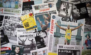 Le journal L'Equipe. Illustration.