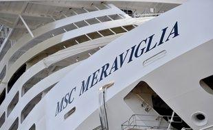 Le MSC Meraviglia aux chantiers navals STX à Saint-Nazaire.