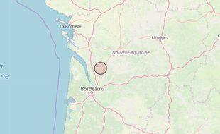 Le séisme s'esgt produit à la frontière entre la Gironde et la Charente-Maritime