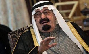 Le roi Abdallah d'Arabie saoudite, le 5 janvier 2014 à La Mecque