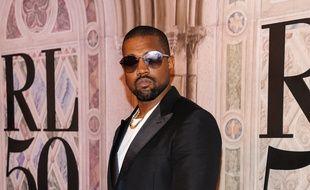 Le rappeur Kanye West au 50e anniversaire de Ralph Lauren à New York
