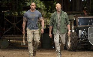 Dwayne Johnson et Jason Statham.
