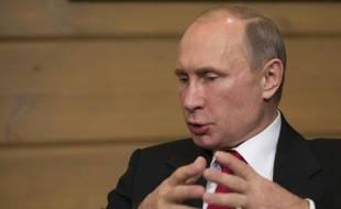 Vladimir Poutine, le président russe, à Sotchi, le 22 octobre 2015