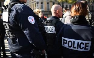 Une patrouille de la police nationale.