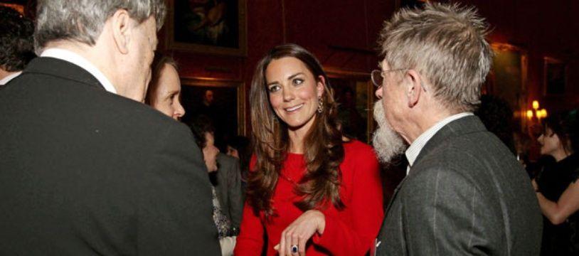 Kate Middleton à la réception des Arts Dramatiques à Buckingham Palace, à Londres, le 17 février 2014