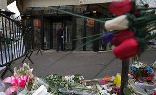 """Le café """"Bonne bière"""", un des sites des attentats du 13 novembre à Paris, le 2 décembre 2015"""