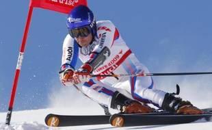 Le skieur français Jean-Baptiste Grange, lors du géant des championnats du monde de Val d'Isère, le 12 février 2009.