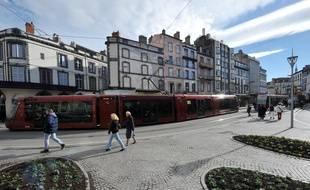 Le tramway à Clermont Ferrand.