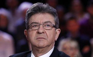 Jean-Luc Mélenchon sur le plateau de «L'Emission politique» le 23 fevrier 2017.
