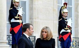 Emmanuel et Brigitte Macron, le 30 septembre 2019 à l'Elysée.