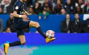 Le milieu de terrain du PSG Javier Pastore, le 25 octobre 2014 contre Bordeaux au Parc des Princes.