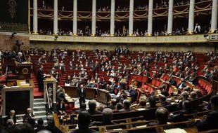 L'hémicycle de l'Assemblée nationale, le 29 avril 2014, lors du discours de Manuel Valls sur le programme de stabilité.