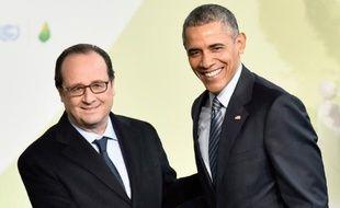 François Hollande et Barack Obama à Paris le 30 novembre 2015 pour l'ouverture de la COP21