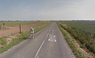 La D147 entre Carnin et Gondecourt (Nord)