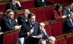 Olivier Becht, président du dixième et nouveau groupe parlementaire Agir ensemble, à l'Assemblée nationale.