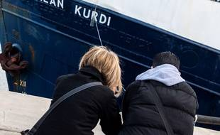 Le navire humanitaire de l'ONG Sea-Eye a été rebaptisé « Alan Kurdi ».