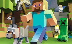 """Des personnages du jeu """"Minecraft""""."""