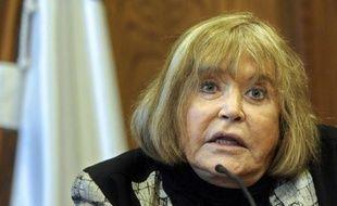 La juge argentine Maria Servini de Cubria le 20 mai 2014 en conférence de presse à San Sebastian en Espagne