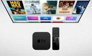 Le nouvel Apple TV, dévoilé le 9 septembre 2015.