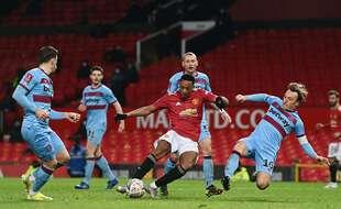 Anthony Matial a subi des insultes racistes de la part de «supporters» de Manchester United après une défaite à domicile contre le dernier de Premier League, Sheffield United, le 28 janvier 2021.