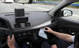 Blagnac, le 11 juin 2013. Les voitures avec radar embarqué.