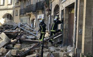 Deux immeubles se sont effondrés rue de la Rousselle à Bordeaux, le 20 juin 2021