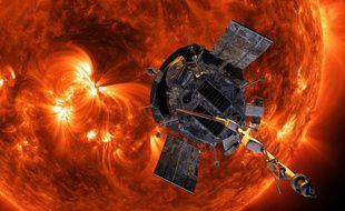 La sonde solaire Parker, créée par la Nasa.