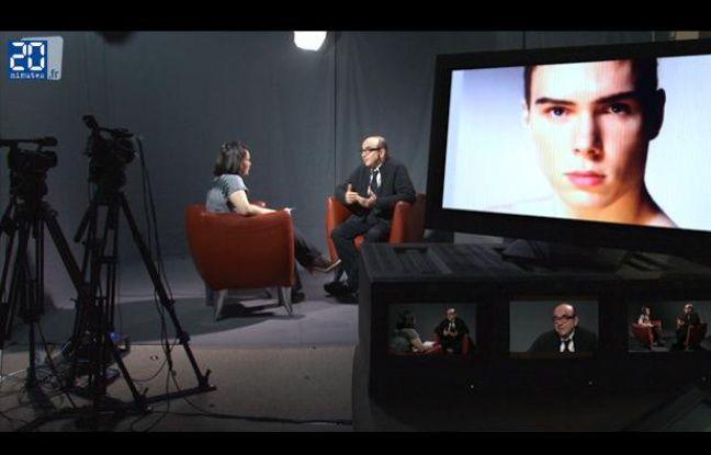 Karl Zéro dans le studio de «20 Minutes».