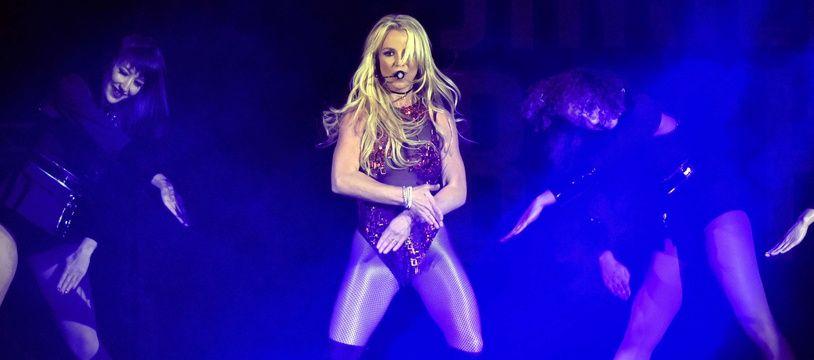 Britney Spears en concert à Rosemont (Etats-Unis), en décembre 2016.