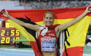 Marta Dominguez, le 30 juillet dernier, à Barcelone, lors des championnats d'Europe en 2010.