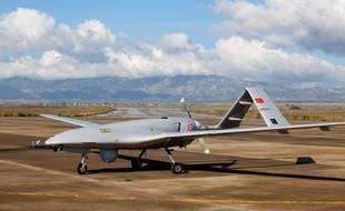 Un drone turc à Chypre, dans la base militaire de Gecitkale.