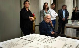 L'ornithologue suisse Luc Hoffmann, ici à Arles le 3 avril 2014, grand défenseur de l'environnement et co-fondateur du WWF, est décédé à l'âge de 93 ans en Camargue