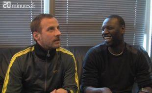 """Capture d'écran de la vidéo """"On a tenté d'interviewer Omar et Fred"""""""