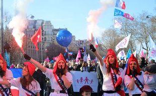 Manifestation en février 2014 à Paris de la Manif pour tous