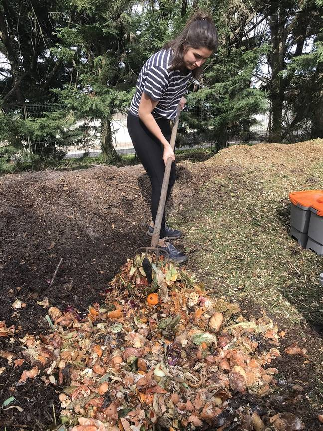 Alexandra Neyroud organise le compostage urbain avec son association Récup.