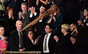 Ji Seong-ho, un Nord-Coréen réfugié à Séoul, était l'un des invités d'honneur de Donald Trump.